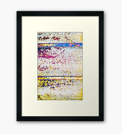 Flaking paint Framed Print