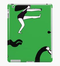 Green yoga iPad Case/Skin