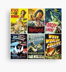 Sci-Fi Movie Poster Art Collection #1 Canvas Print
