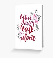 BTS WINGS You Never Walk Alone Greeting Card