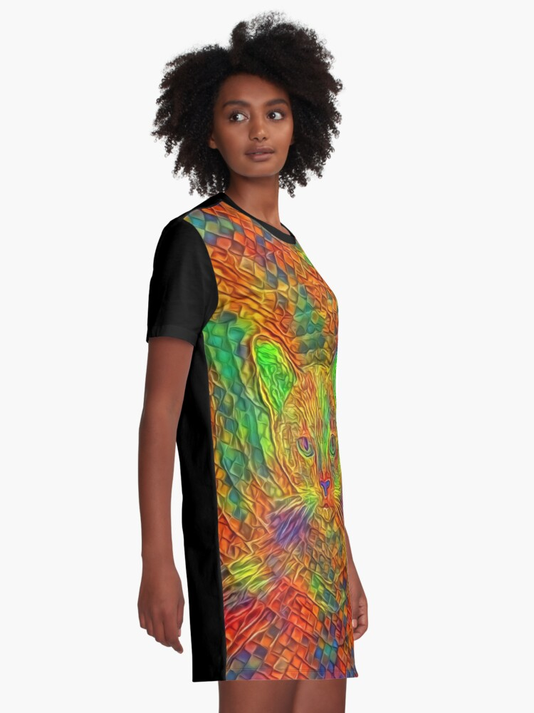 Alternate view of Cat Graphic T-Shirt Dress