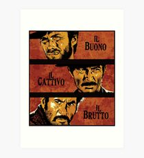 The Good, the Bad, and the Ugly Art Print