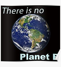 There is No Planet B - Climate Change Earth Day Global Warming Ice Caps Melting Poster