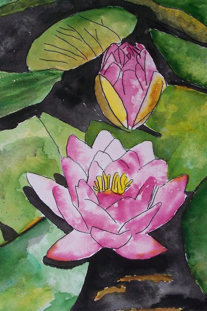 water lily flower pad by derekmccrea