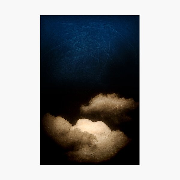 Clouds in a scratched darkness Photographic Print