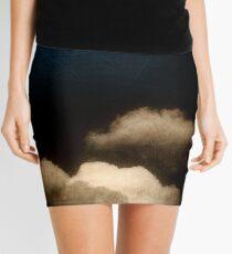 Clouds in a scratched darkness Mini Skirt