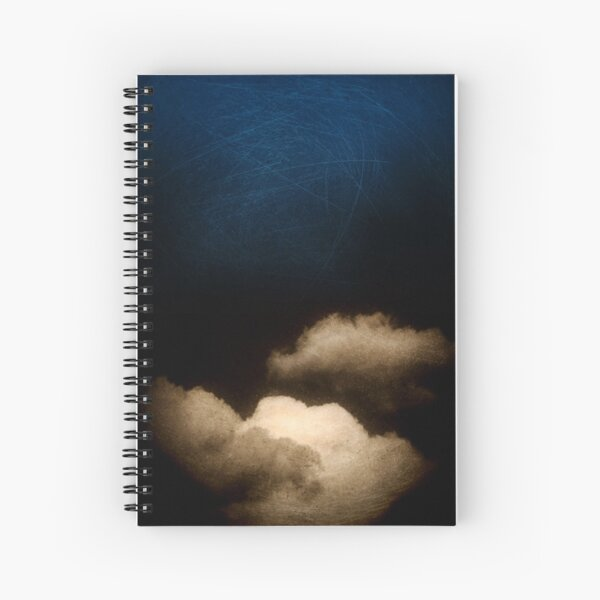 Clouds in a scratched darkness Spiral Notebook