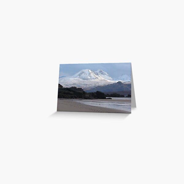 Torridon mountains from Big Sand Greeting Card