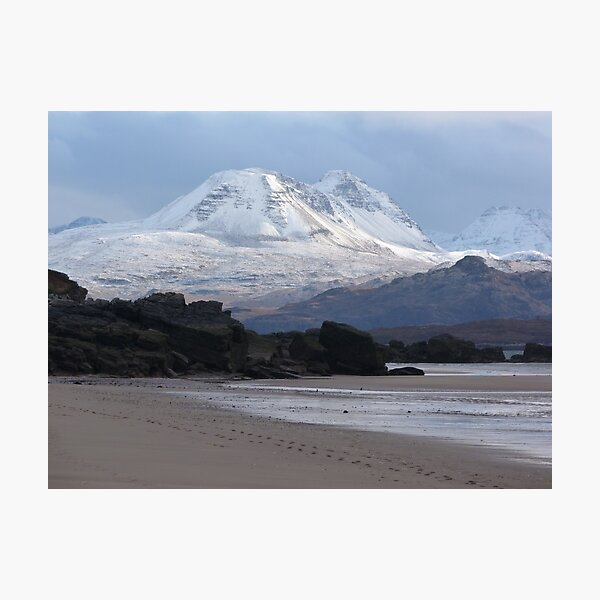 Torridon mountains from Big Sand Photographic Print