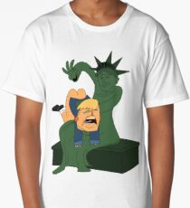 Toddler Trump Getting Spanked by the Statue of Liberty Shirt Long T-Shirt