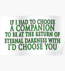 I'd Choose You (Slytherin Colours) Poster
