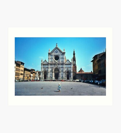 A child in Florence - Basilica of Santa Croce Art Print