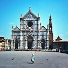 A child in Florence - Basilica of Santa Croce by Silvia Ganora
