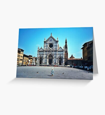 A child in Florence - Basilica of Santa Croce Greeting Card