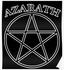 """Azarath"" (band tee style) Poster"
