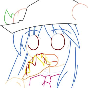 Tenshi eating a corndog by EvaEV