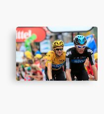 Bradley Wiggins Chris Froome Canvas Print