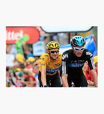Bradley Wiggins Chris Froome Photographic Print