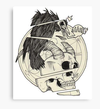 Corbeau & démon. Canvas Print
