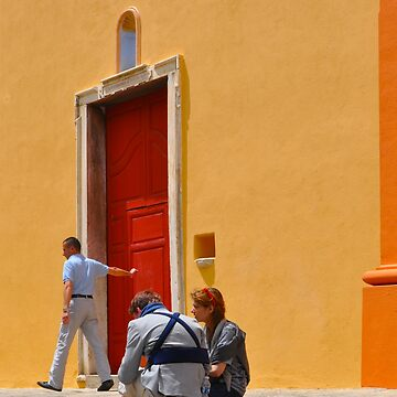 CORSICA CHURCH WITH RED DOOR by tomb42
