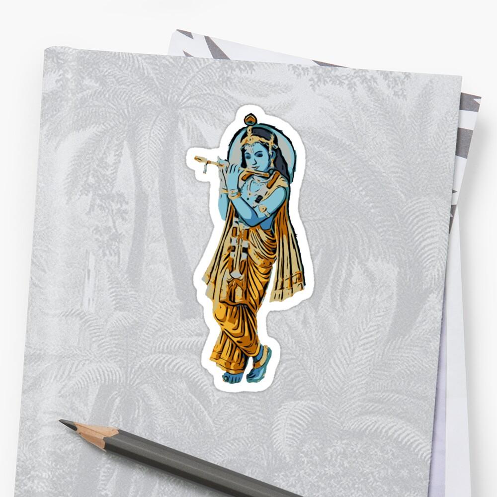 Krishna with Flute Sticker