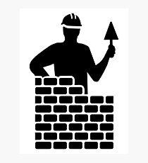 Brick layer Photographic Print