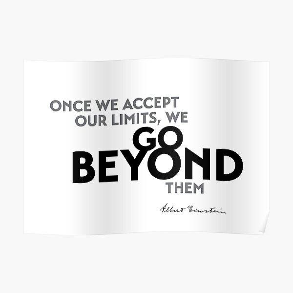 go beyond limits - einstein Poster