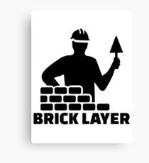Brick layer Canvas Print