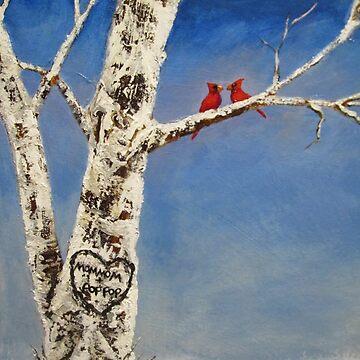 Winter Cardinals by TheHeadbanger93