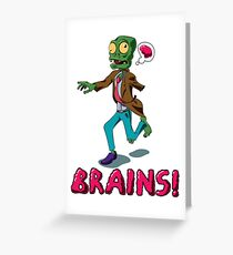 The Hungry Zombie Greeting Card
