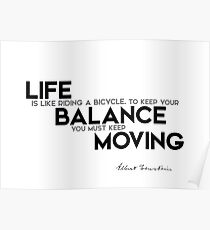 life is balance - einstein Poster