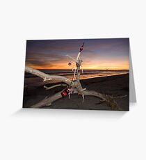 A Beach Bum's Christmas Tree Greeting Card
