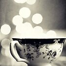 Blue and Gold High Tea (in black and white) by ameliakayphotog