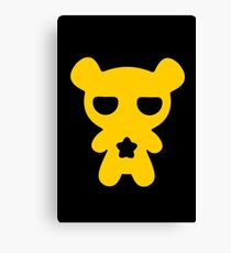 Attention! Yellow Lazy Bear! Canvas Print