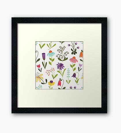 Fresh floral Framed Print