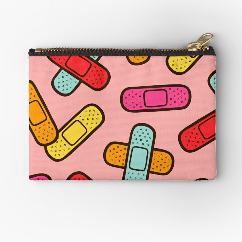 Rainbow Band-Aids Pattern Zipper Pouch
