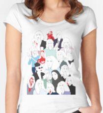 Women in Horror Women's Fitted Scoop T-Shirt