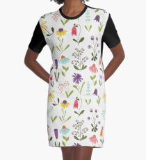Fresh floral Graphic T-Shirt Dress