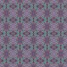 Purple Boho Teal Birds by peaceofpistudio
