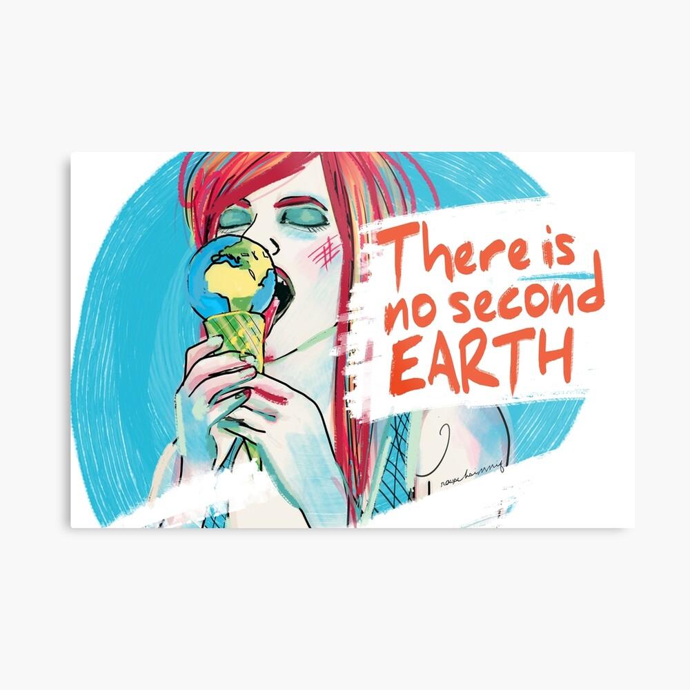 No second Earth Metalldruck