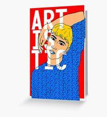 ARTISTIC BOY Greeting Card