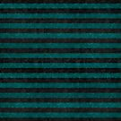 Black and Teal Stripe Madness by JezebelDesigns
