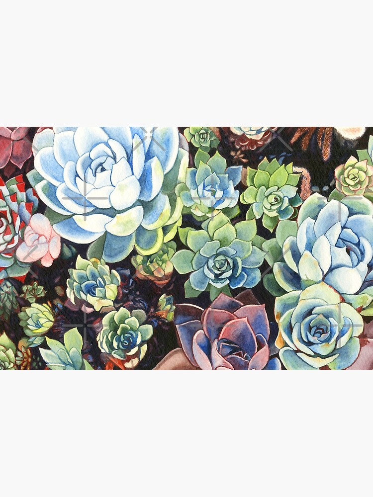 Succulent Field (watercolor) by geothebio