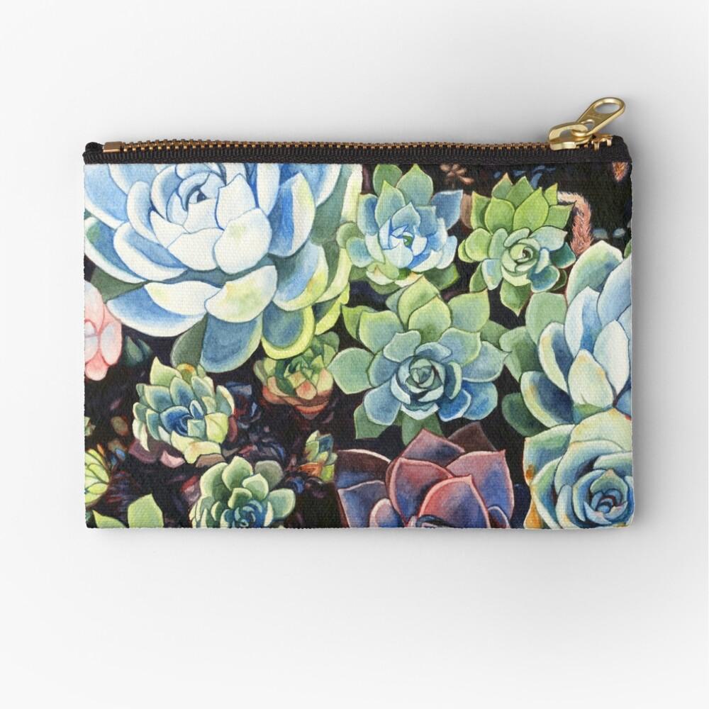 Succulent Field (watercolor) Zipper Pouch