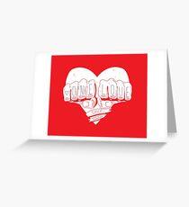 One Love (tattoo fists) Greeting Card