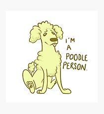 Poodle  Person Photographic Print