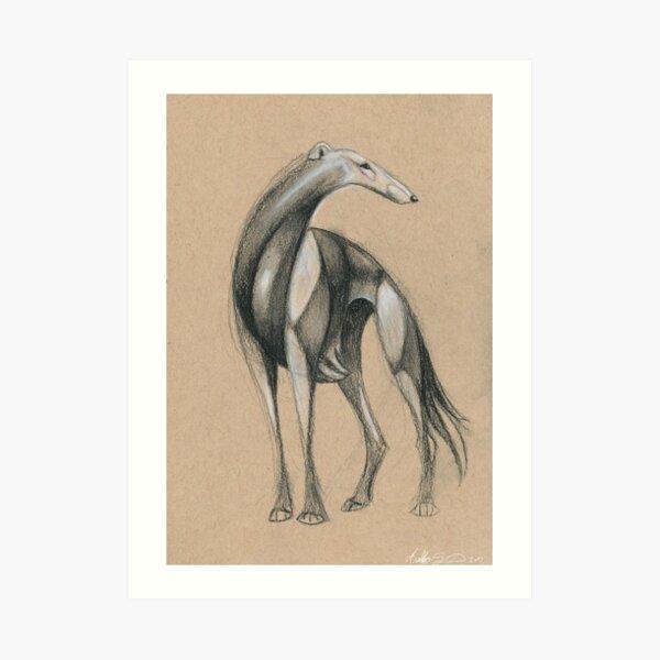 Swirly Sighthound 2 Art Print