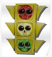 street light owls Poster