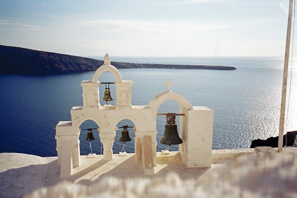 Bells, Santorini by Leigh Penfold