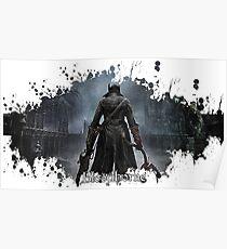 Bloodborne splatter Poster